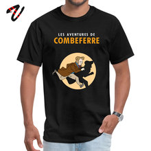 Men black Top T-shirts The Adventures of Combeferre Tops Shirts Pure Cotton Winter Soldier Programming Tee Printed On