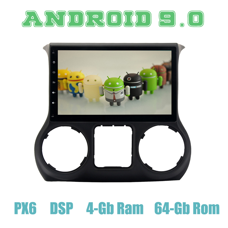 10.2 ips Android 9.0 Car GPS Radio for jeep wrangler 2011-2016 with PX6 DSP 4+64GB Auto Stereo Multimedia
