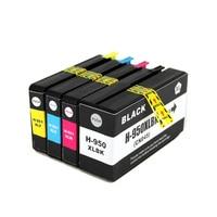 4pcs Set Compatible Ink Cartridge HP950XL HP951XLL For HP Officejet Pro 251dw 276dw 8100 8600 8610