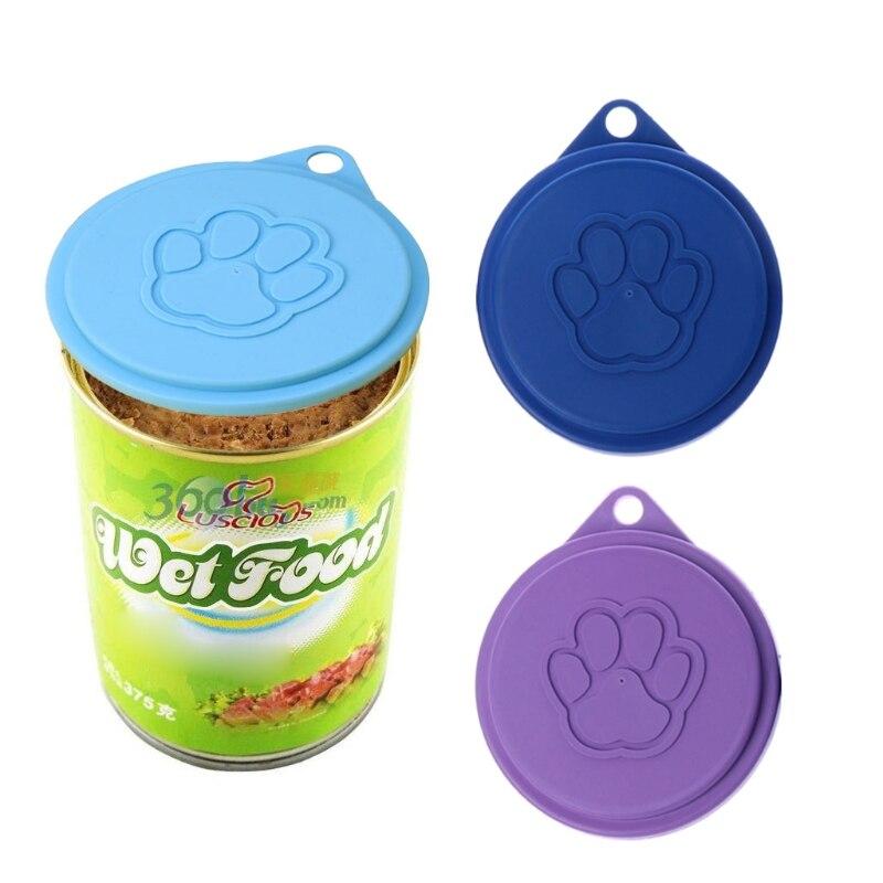 9cm Dog Storage Top Cap Food Can Tin Cover Lid Pet Cat Puppy Food Can Reusable