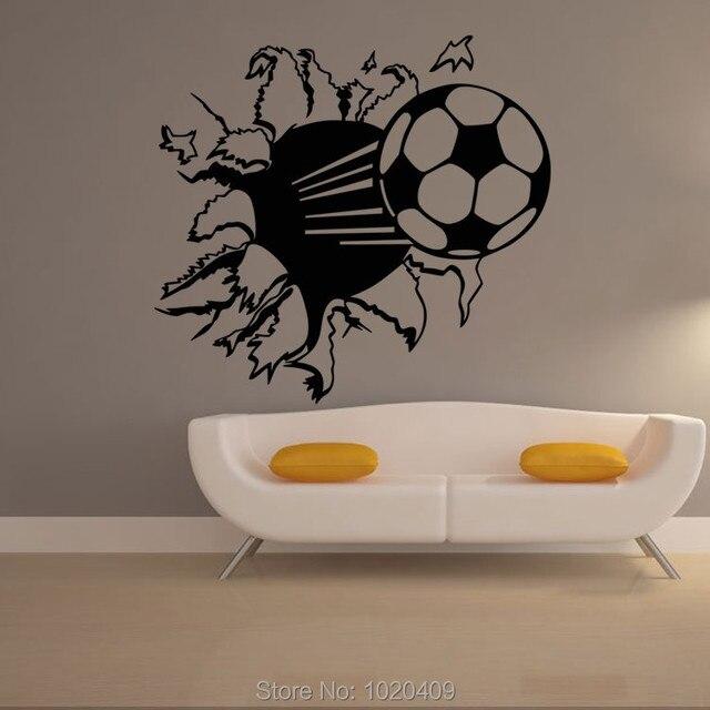 Us 6 75 10 Off Fussball Fussball 3d Bang Wandaufkleber Steuern Dekor Wandtattoo Fur Kinderzimmer Sport Jungen Schlafzimmer Tapete A009 In Fussball