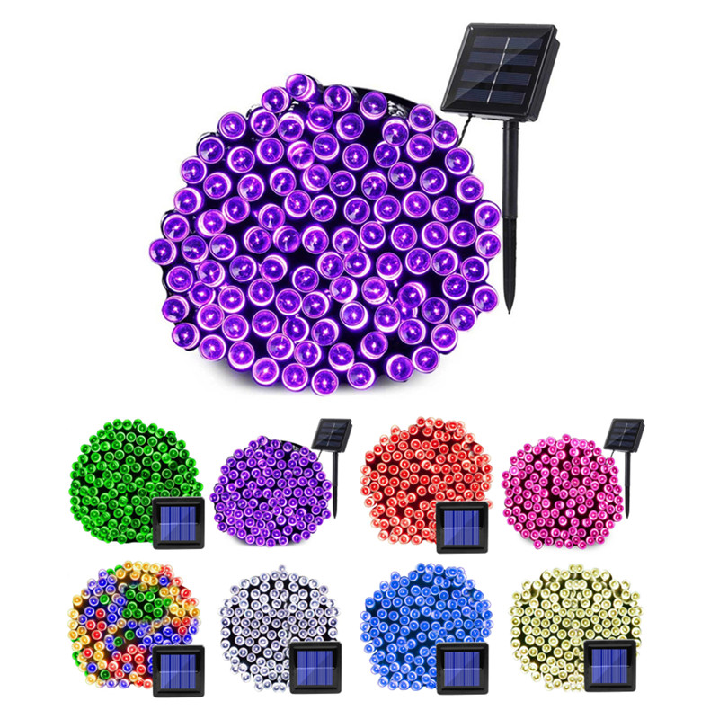 8 Modes 100 200 Leds Solar String Light Outdoor Waterproof for Garden Dec Christmas Garland Solar Powered Lamp Fairy Strip Light