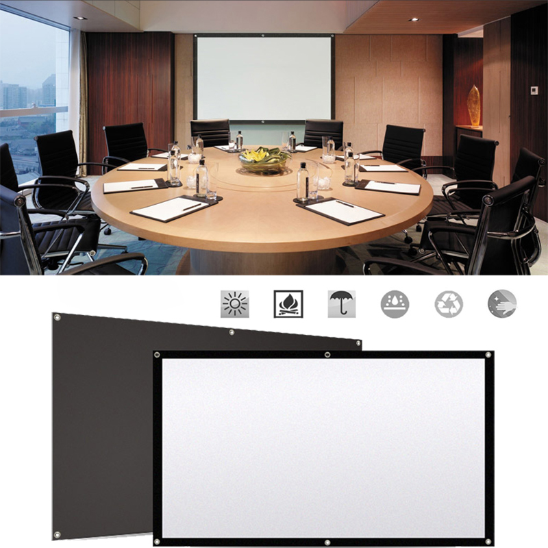 Movie Projection Screen Waterproofed Polyester Video Projector Screen Waterproof Home Theater