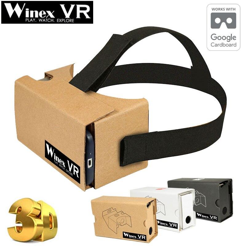Winex vr vr google cartón 2.0 realidad virtual gafas 3d para 3.5-6 \