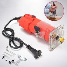 Wood Router Trimmer 220V 350W 6.0mm Electric Woodworking Hand Trimmer Wood Laminate Router Joiners Power Tools 3000rpm стоимость