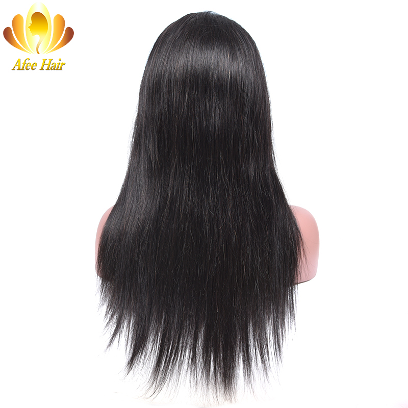 AliAfee Hair 150 Density Lace Wig Brazilian Straight Lace Front Human Hair Wigs with Baby Hair
