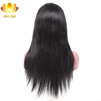 AliAfee Hair 150% Density Lace Wig Brazilian Straight Lace Front Human Hair Wigs with Baby Hair Natural Color Remy Hair