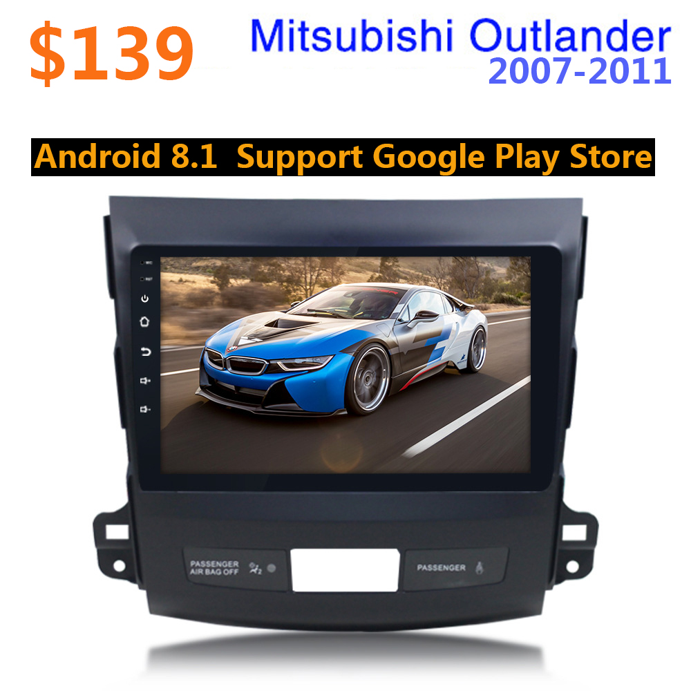 10.1 pouces 2din Android 8.1 voiture multimédia Autoradio Wifi Navigation GPS pour Mitsubishi Outlander XL 2007-2011 47