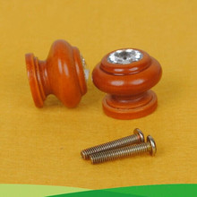 10pcs free shipping 27mm wooden furniture knob wooden shoe cabinet drawer bedside table pull handle glass knob wooden small knob