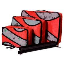 Packing Bag Cube Men Journey 3PCS/Set Fashion Big Capacity Zipper Nylon Waterproof Women Travel Luggage Organizer