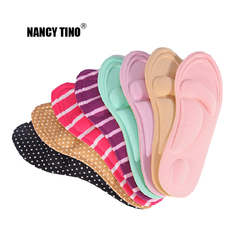 NANCY TINO 4D Sports Memory Foam Orthotics Insoles for Flat Foot Arch Support Orthopedic Insoles for shoes Woman Shoe Insoles
