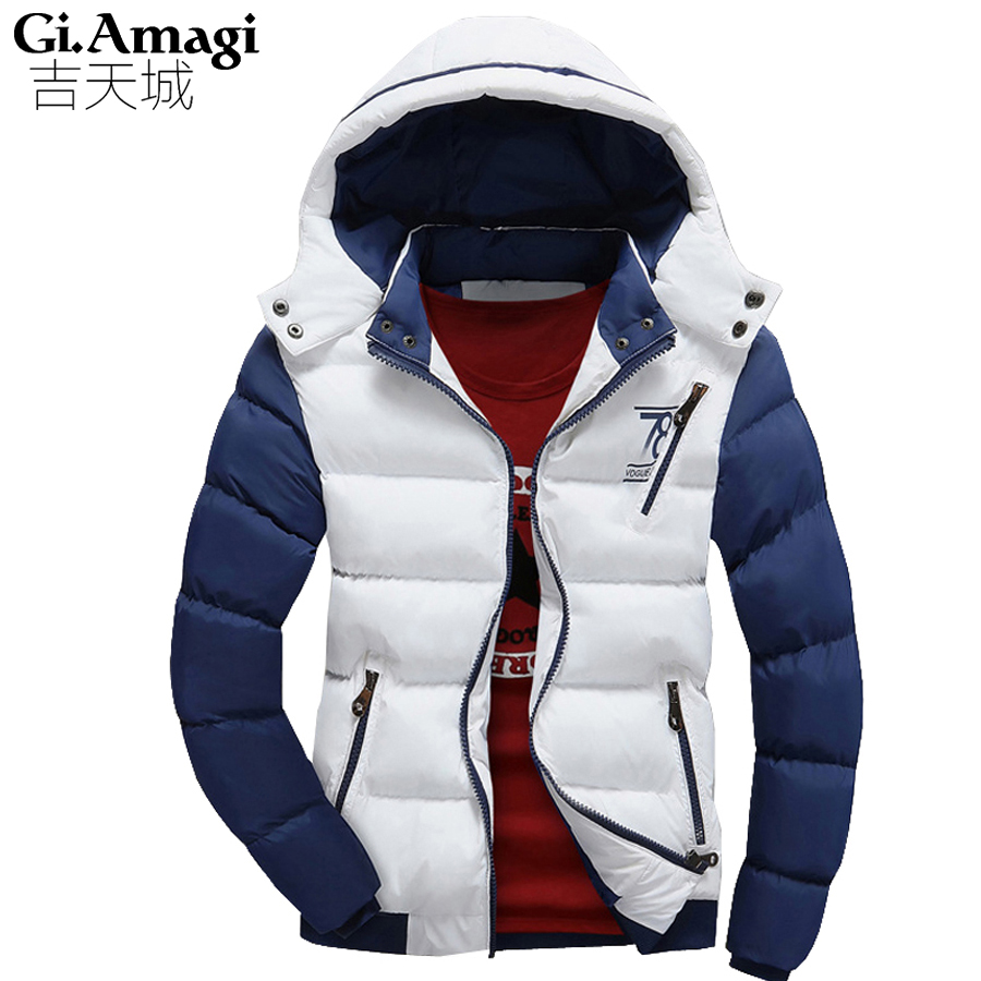 ФОТО 2016 new Brand winter warm Jacket for men hooded coats casual mens thick Jackets male slim casual cotton padded coat outerwear