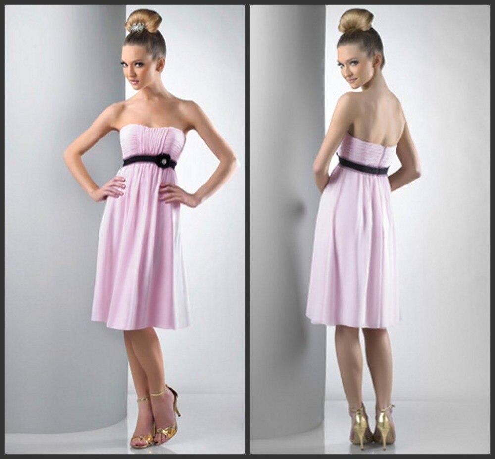 women flower vestido de festa longo casamento 2016 cheap new fashionable sexy pink short party   Bridesmaid     Dresses   free shipping