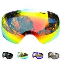 Lens For Ski Goggles Snow 3100 Anti Fog UV400 Large Spherical Snowboarding Eyewear Glasses