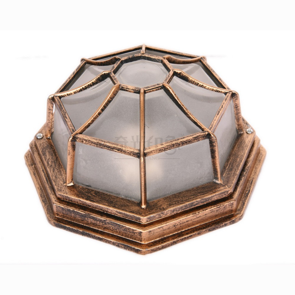 European Octagonal Outdoor Ceiling Lamp Villa waterproof Corridor Hallway Bedroom Balcony Ceiling Lighting Fixtures