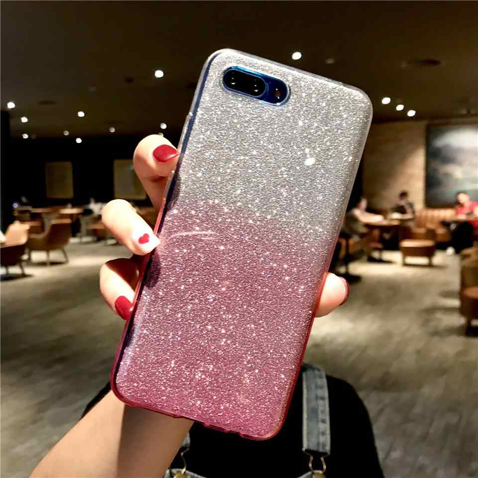 Glitter Gradient Case For Honor 10 9 8 8X 7X 7A 5A Y6 Prime Y7 Y9 2018 Cover TPU Cover For Huawei Mate 20 Pro P30 P20 Lite P10