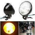 """Retro 5 """"farol da motocicleta âmbar motorbike motocross farol dianteiro luz âmbar universal para honda harley choppers touring"""