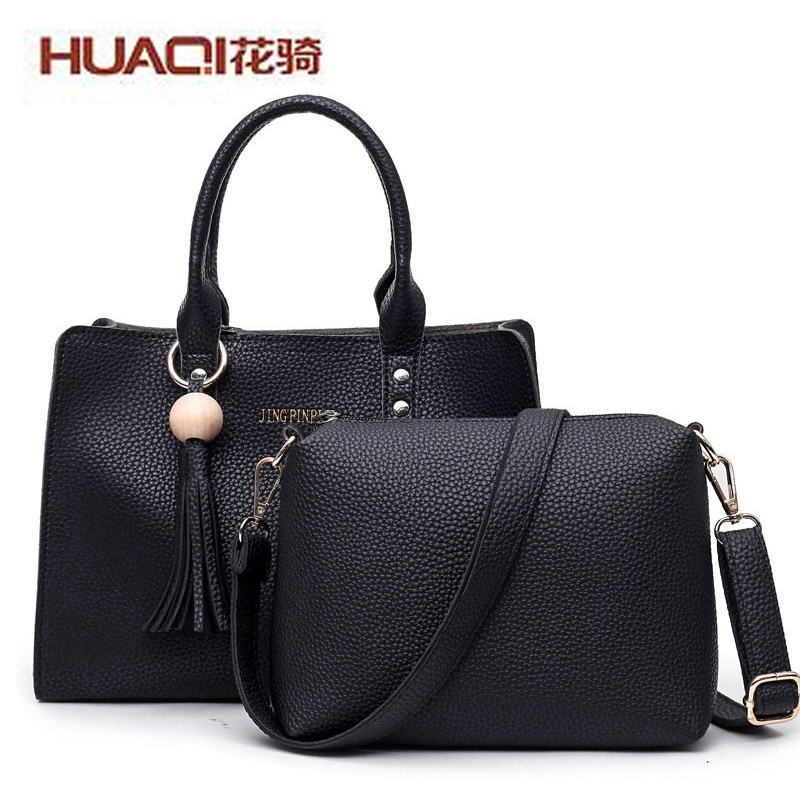 ФОТО Wholesale Cheap Women's Leather Bag High Quality Fashion Tassel Designers Ladies Shoulder Bag Messenger Bags Sets HQ1691#