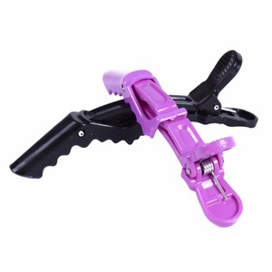 Image 5 - 5Pcs/Pack Hairdressing Clamps Claw Clip Hair Salon Plastic Crocodile Barrette Holding Hair Section Clips Grip Tool Accessories