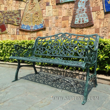 3 person antique cast aluminum good quality luxury durable park bench garden chair for outdoor