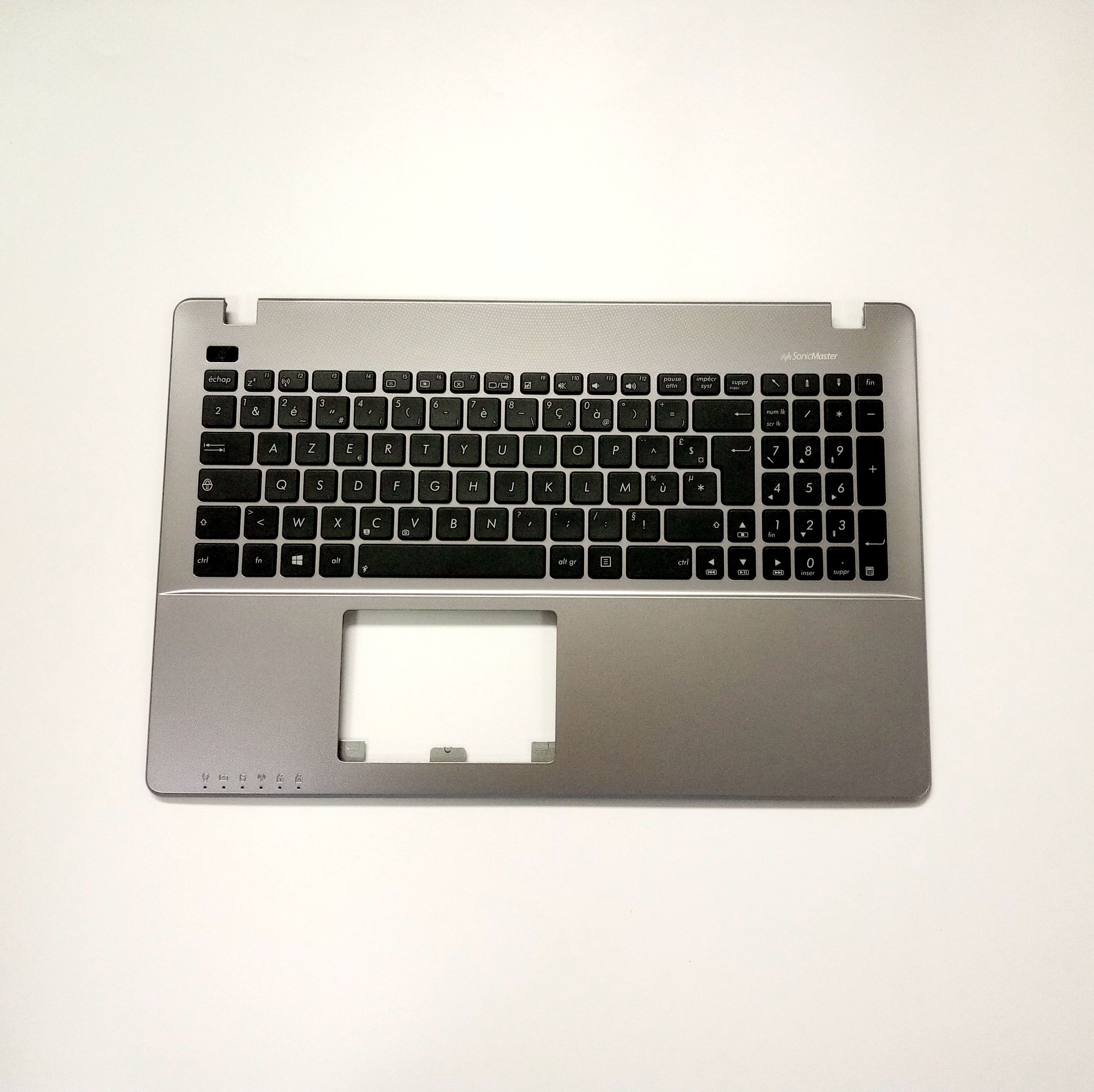 New Clavier for Asus R510C R510CA R510CC Keyboard Topcase with Grey palmrest Genuine French
