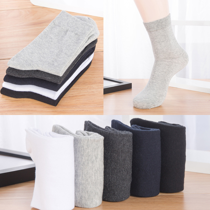 5Pair High Quality Men Dress Socks Business For Man Spring Autumn Socks Male Casual Sock ...