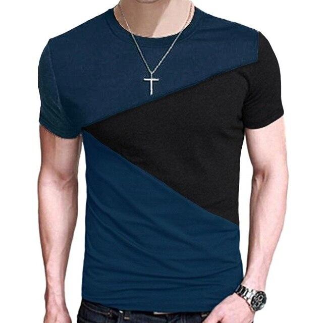 9a0a3067c Harajuku Costura Roupas Streetwear Homens camisas engraçadas de t Solta  camiseta casual T Tops roupas masculinas