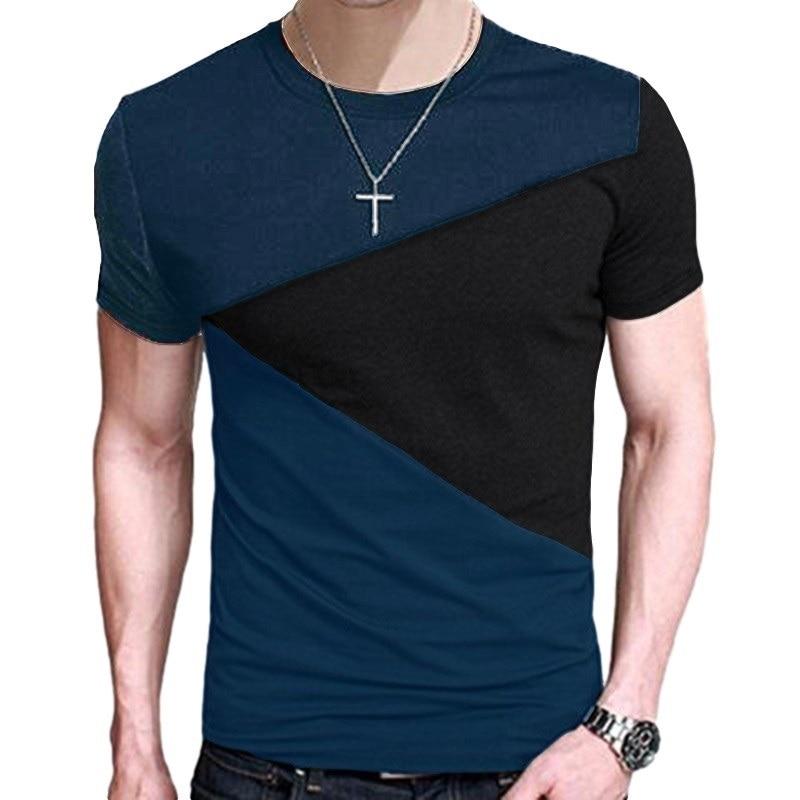 Harajuku Stitching Clothes Streetwear Men funny   t     shirts   Loose tshirt casual Tee Tops Men Short Sleeve men clothes 2018 TX116-E