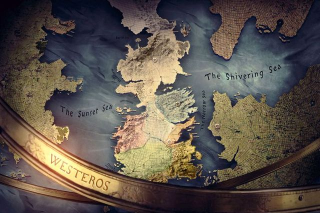 Game Of Thrones Seven Kingdoms Map Silk Canvas Wall Posters Hd