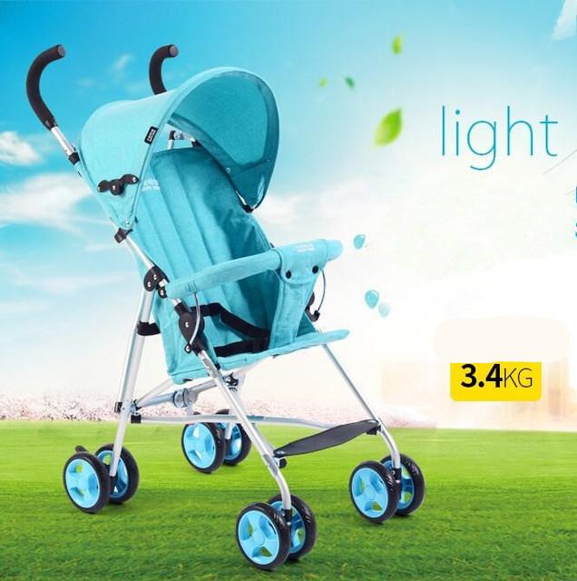 Venta caliente súper ligero carro de bebé cochecito de bebé carro bebé transpirable a prueba de golpes portátil fácil de llevar