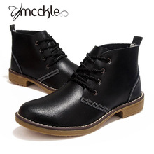Women's Motorcycle Ankle Boots Genuine Leather 2016 Autumn Winter Casual Shoes For Woman Military Botas Vintage High Top J4359