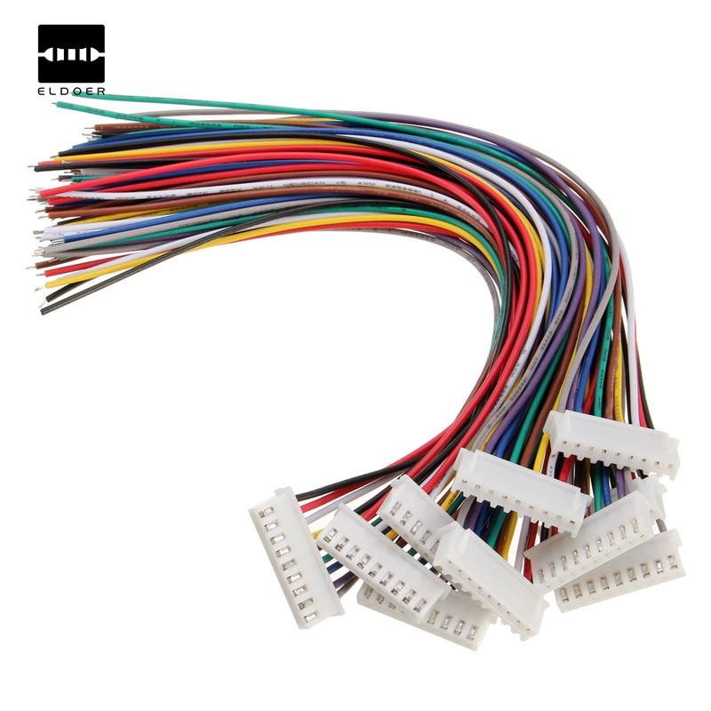 New Arrival 10Pcs/Set 9Pin 8S Lipo Balance JST-XH Plug Wire Connector Adapter Plug 20cm Best Price Electronics Stocks Kits