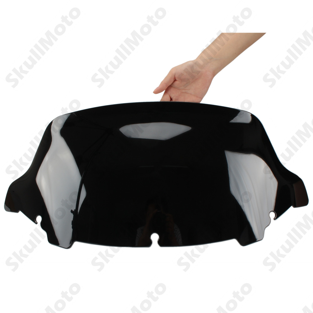Motorcycle Accessories 10 Dark Smoke Wave Windshield Windscreen For Harley Touring Tri Electra Street Glide FLHX 2014 2015 2016 rsd motorcycle 5 hole beveled derby cover aluminum for harley touring flh t 2016 2017 for flhtcul and flhtkl 2015 2016 2017