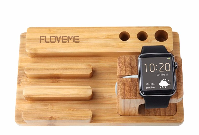 For iPhone Apple iWatch Wood Charge Holder (14)