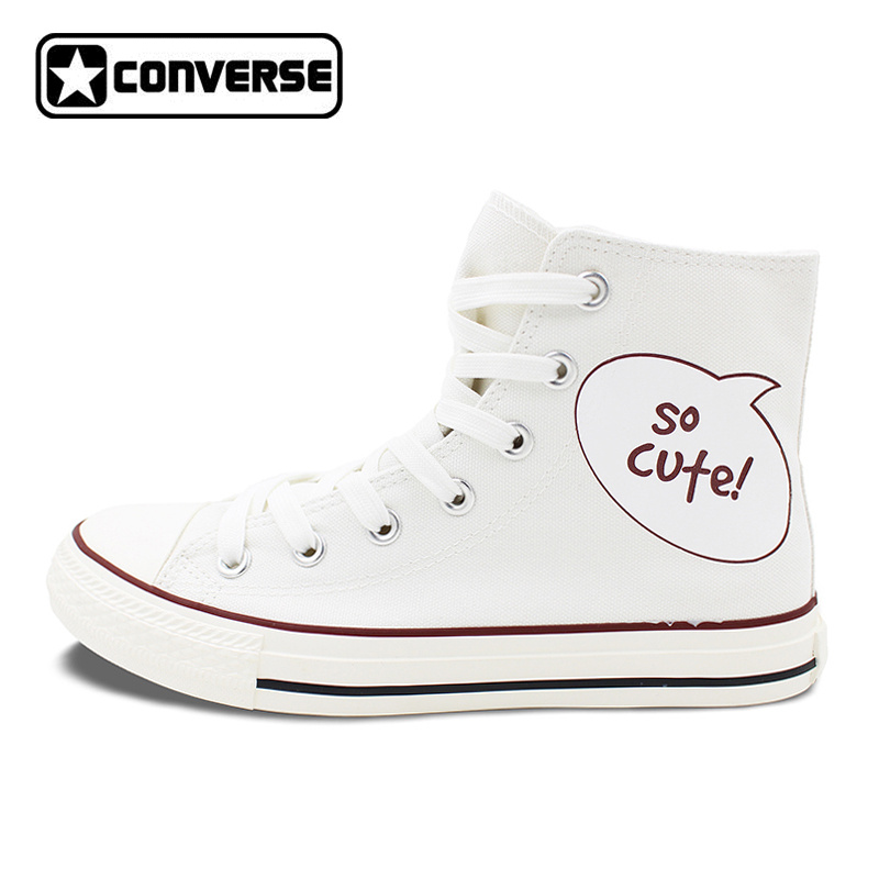 Design Panda Canvas Shoes Sneakers Men Women Converse Original Skateboarding Shoes High Top All Star Brand original converse women s high top skateboarding shoes sneakers