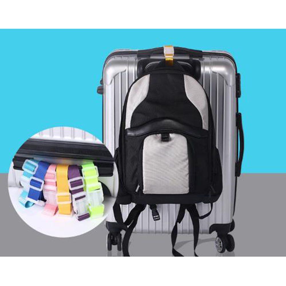2pcs Adjustable Suitcase Luggage Straps Travel Buckle Baggage Tie Down Belt