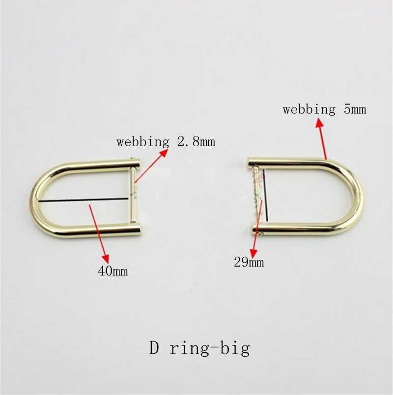 10 комплектов аппаратные аксессуары D шуруп с кольцом замок цепи для вычета багажа изогнутая Пряжка DIY сумка сумки замок