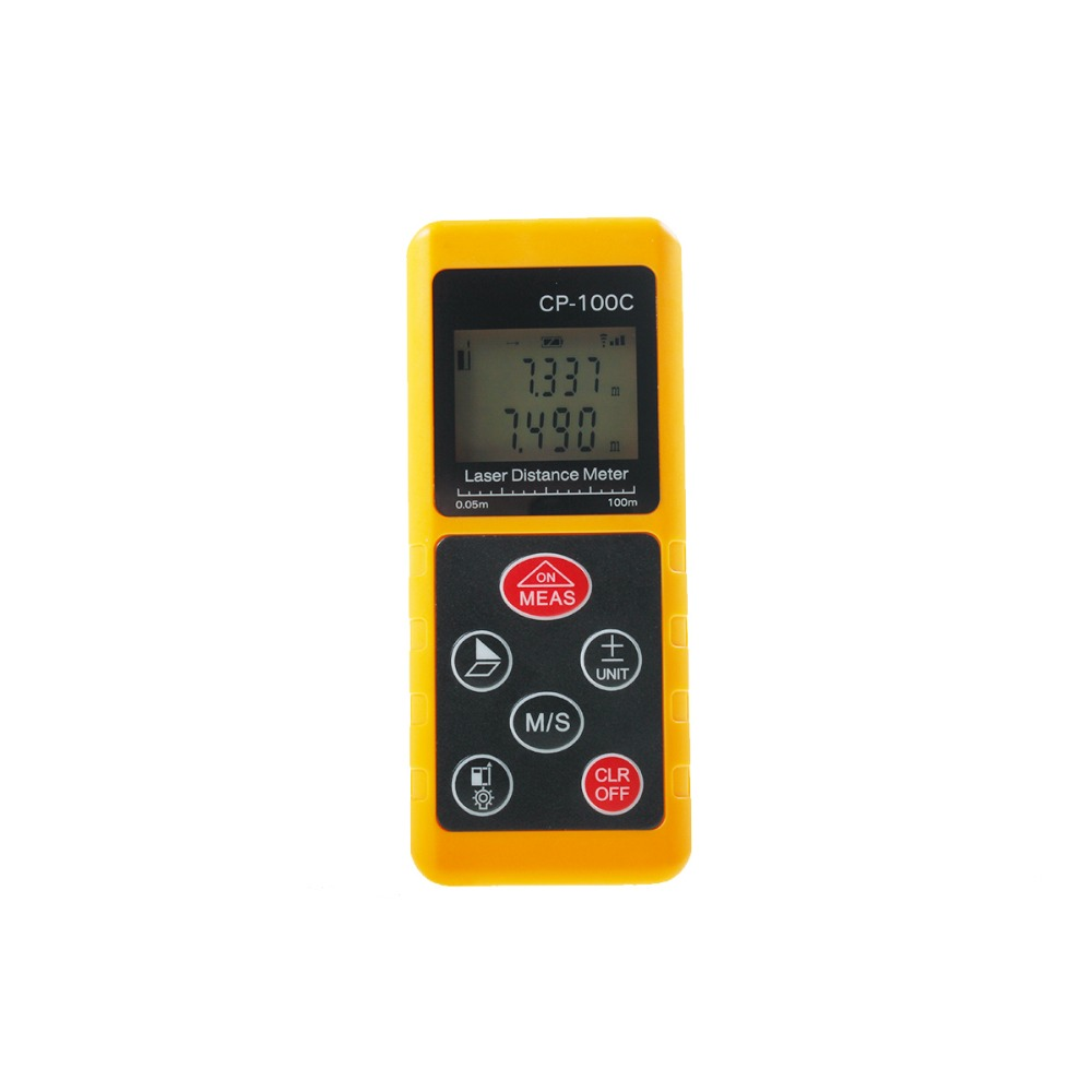 ФОТО 2016 NEW 100M Telemetre Durable Laser Distance Meter Mini LCD Laser Range Finder 100m Maesure Area Volume Angle Test CP-100C