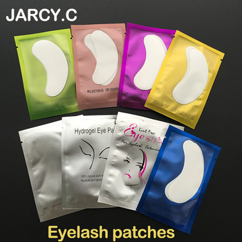 Hot Sale 11 Color 500pairs 7.6*2.9cm Size Eye Pads Eyelash Extension Makeup Tools Eyelashes Paper Patches Tips Sticker Wraps