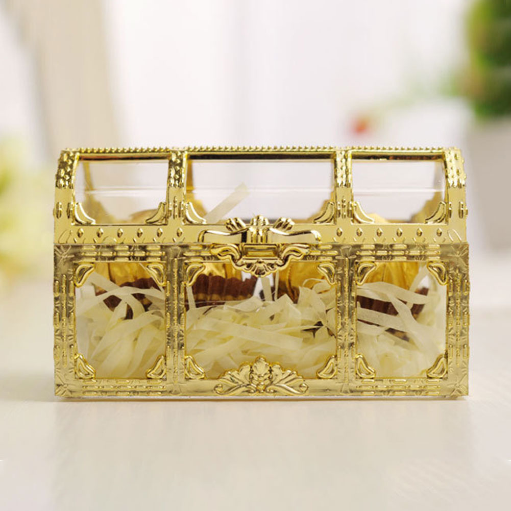 Desktop Home Collectibles Jewelry Box Pirate Transparent Organizer Treasure Storage Chest Candy Trinket Makeup Gem Mini Case