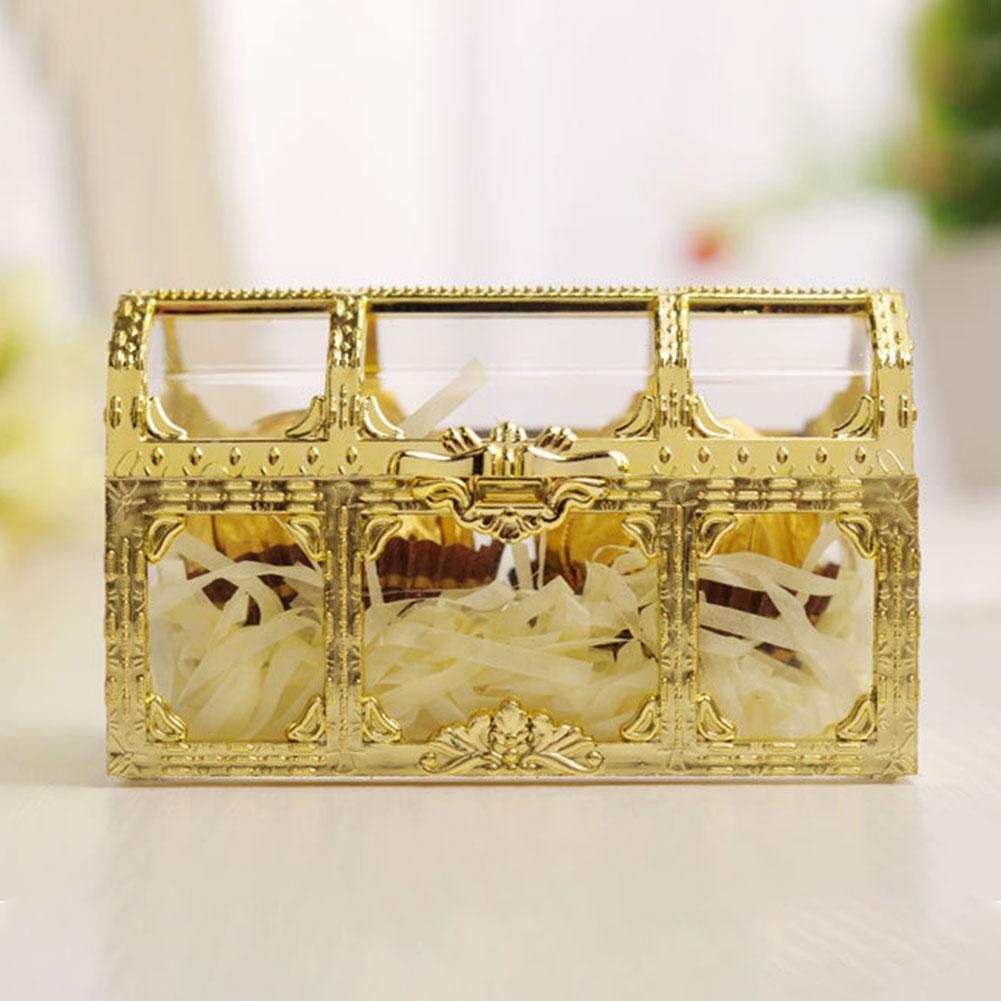 Desktop Home Collectibles Jewelry Box Pirate Transparent Organizer Treasure Storage Chest Candy Trinket Makeup Gem Mini Case