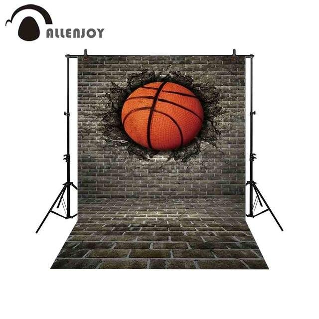 Allenjoy כדורסל רקע photophone 3D אפור לבני קיר ילד פעילות סדק רחוב צילום תפאורות צילום סטודיו