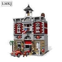 2313Pcs City Street Creator Fire Brigade 15004 Model Doll House Building Kits Blocks Compatible LegoINGLY 10197