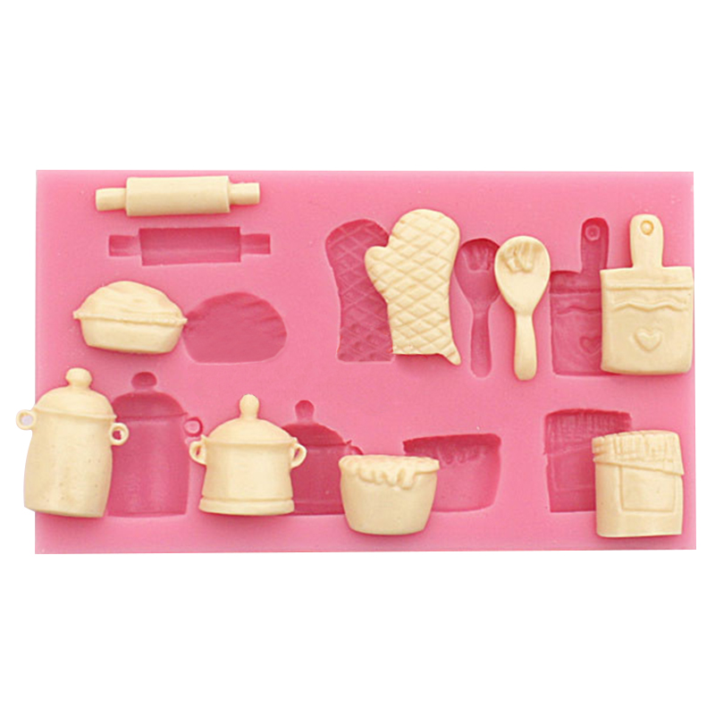 Silicone Cake Mold 3D Fondant Cake Decorating Tools ...