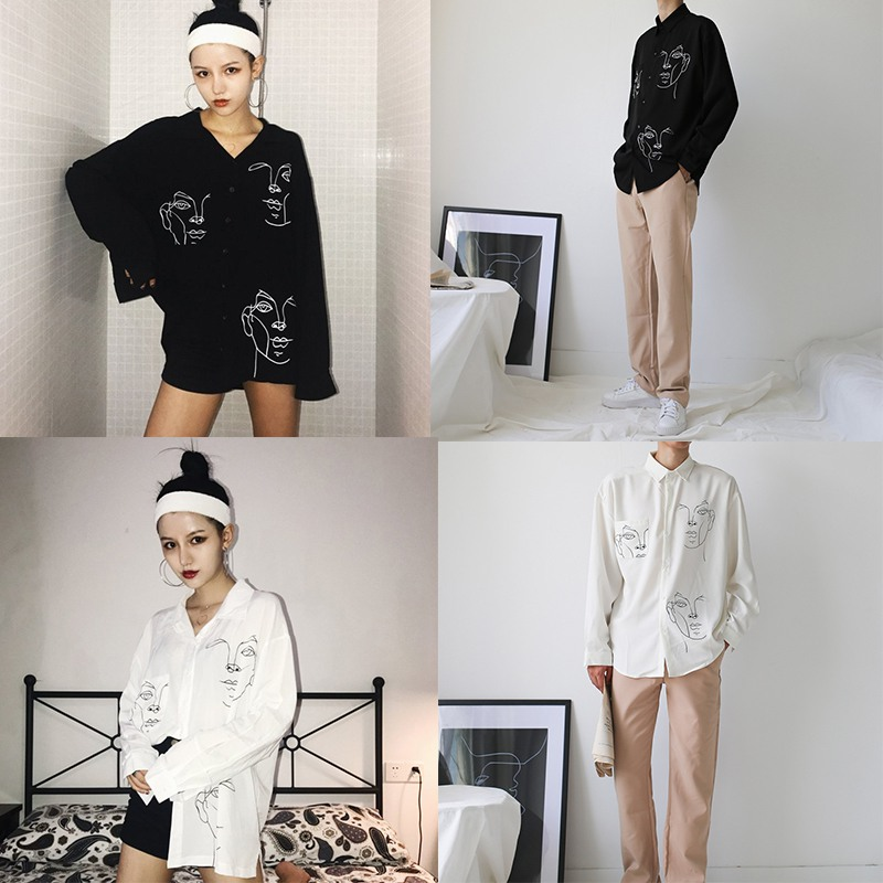 HTB1TmkgbiLxK1Rjy0Ffq6zYdVXaN - New Summer Blouse Shirt Female Cotton Face Printing Full Sleeve Long Shirts Women Tops Ladies Clothing