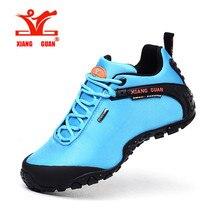 xiangguan Men and women Outdoor Hiking Shoes fishing Athletic Trekking Boots Women Climbing Walking Sneakers SIZE