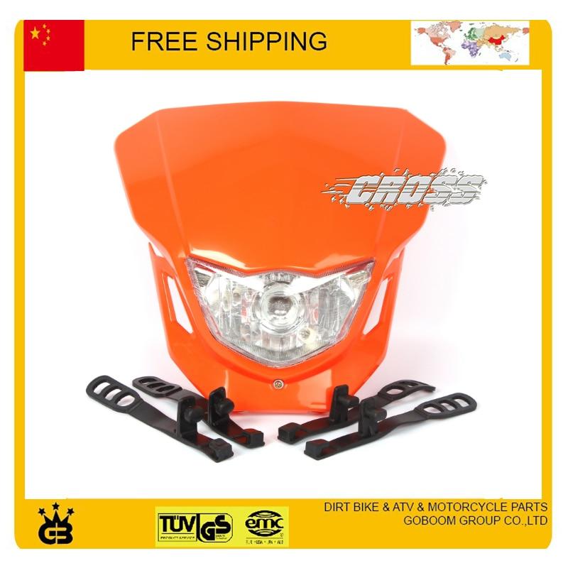 X2 T4 T8 CQR GY KTM kepala sepeda motor lampu kepala dipimpin topeng - Lampu mobil - Foto 2
