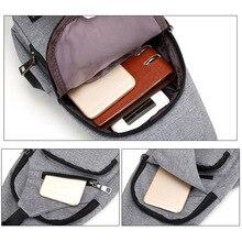 High Quality Men USB Charge Anti Theft Security Waterproof Travel Shoulder Bag Man Crossbody Messenger Casual Bag Popular