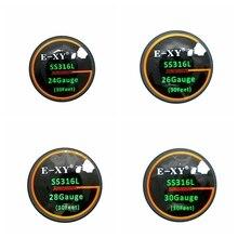 Fios de Resistência de Aquecimento E-XY 24G/26G/28G/30G Para O Cigarro Eletrônico Atomizador SS316L DIY Bobina de Pré-construído Fios de Aquecimento A1