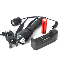 Brand NEW 2000Lumen XML T6 LED Flash Light Tactical Flashlight Torch Mount 2x 18650 Battery Charger
